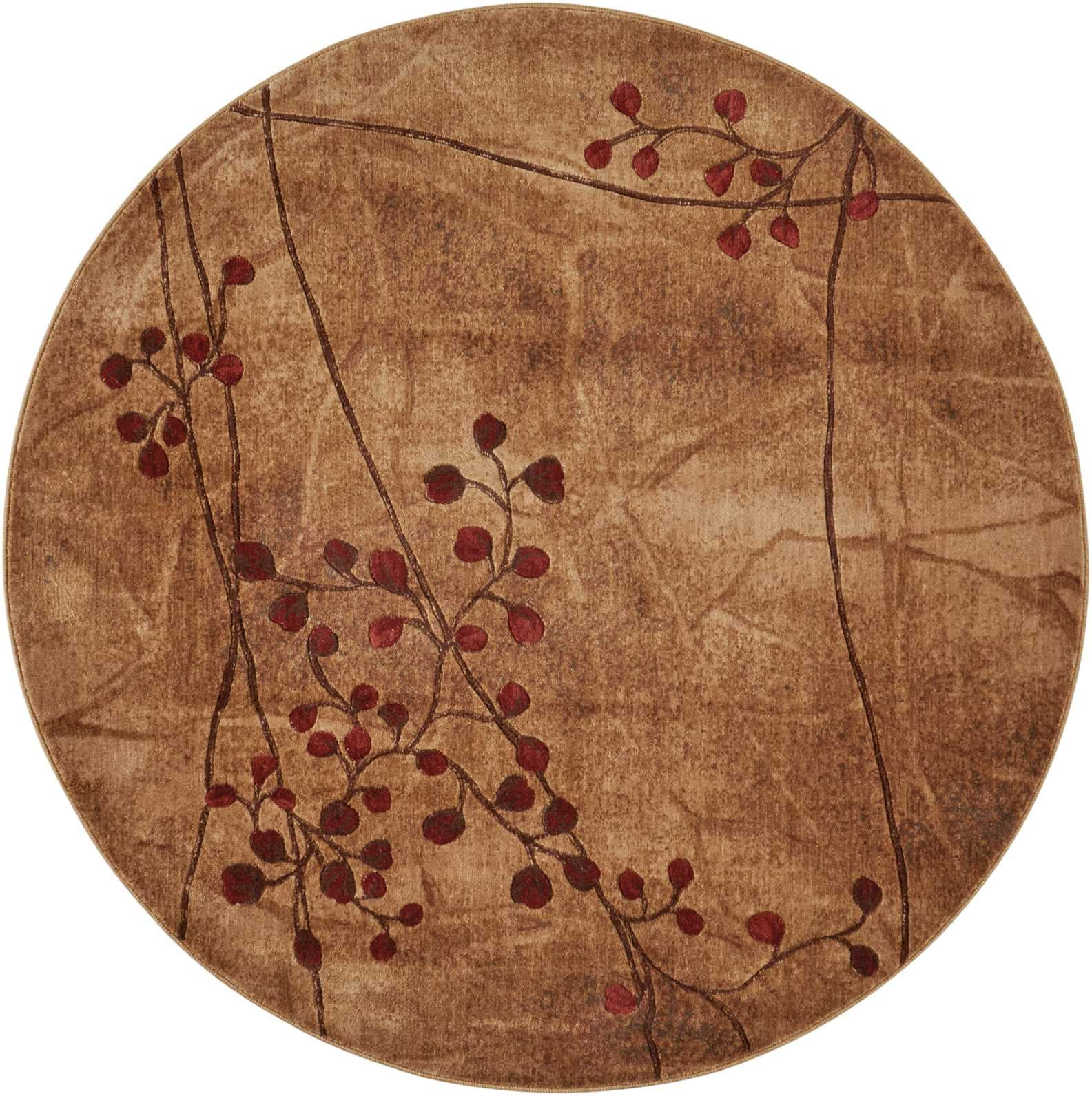 Nourison Somerset (ST74) Latte Round Area Rug, 5-Feet 6-Inches by 5-Feet 6-Inches (5'6'' x 5'6'') by Nourison (Image #3)
