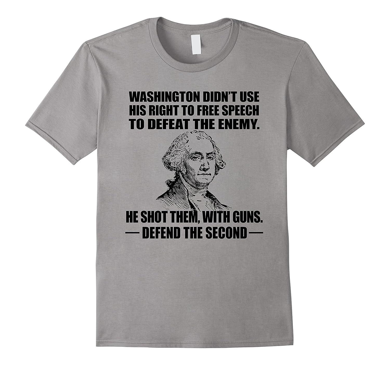2ND AMENDMENT RIGHTS Shirt, George Washington Love Guns Tee-TH