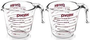 Pyrex 6001075 6001075-2 Prepware 2 Glass Measuring Cup