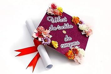 amazon com handmade graduation cap topper personalized graduation