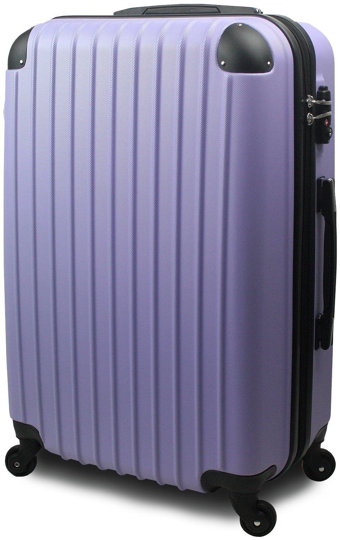 スーツケース キャリーバッグ 超軽量 大型 Lサイズ TSA搭載 FS2000 ダブルファスナー B0714C149S 大型 Lサイズ 7~14泊用|ラベンダー ラベンダー 大型 Lサイズ 7~14泊用