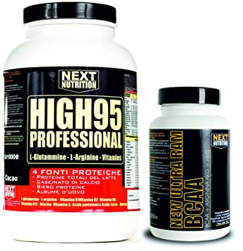 Kit se compone de HYGH 95 90% de proteína 4 fuentes de proteínas (leche
