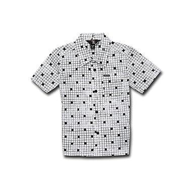 c80b9563b Amazon.com: Volcom Little Boy's Crossed Up Short Sleeve Button Up ...
