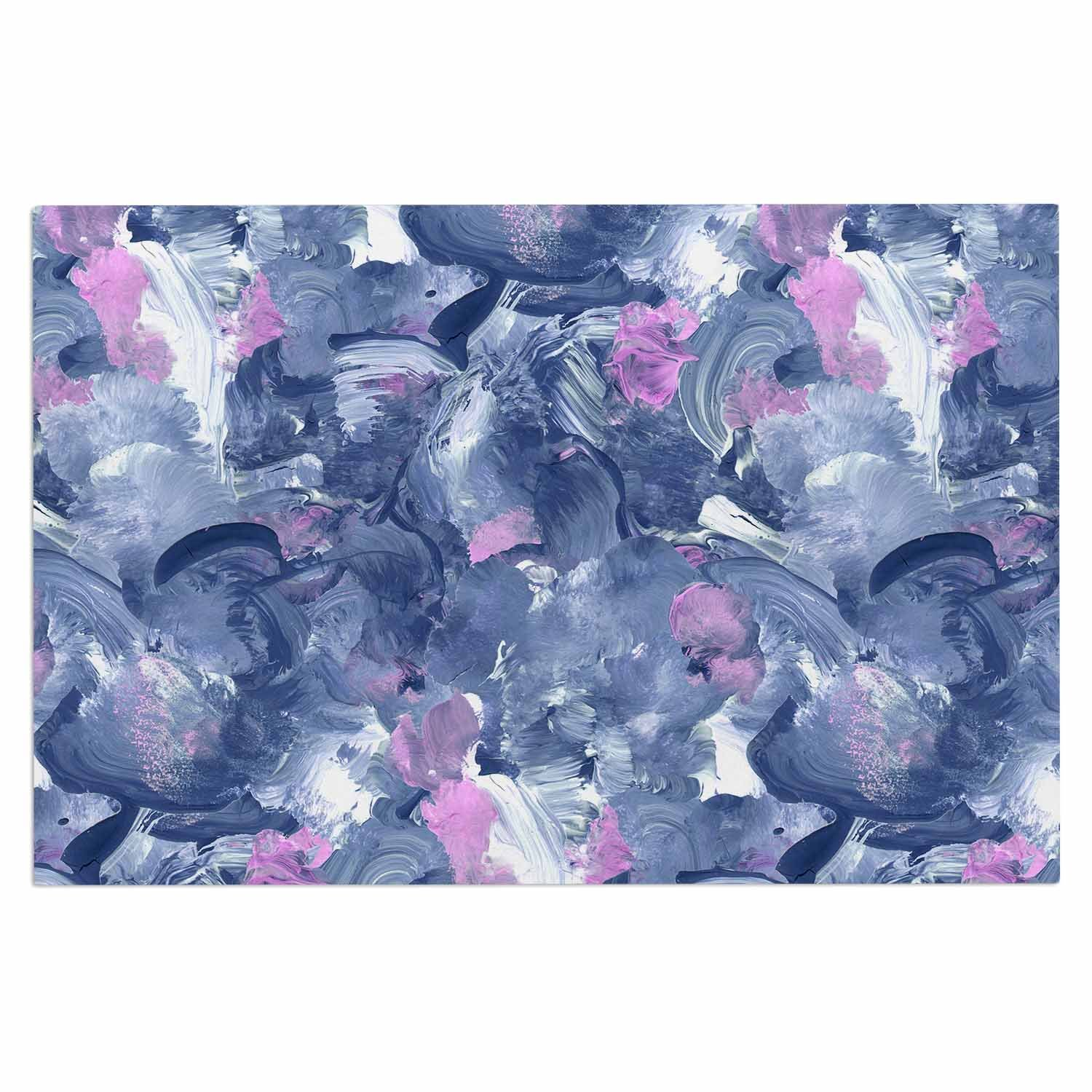 2 x 3 Floor Mat Kess InHouse Danii Pollehn Swirly Blue Pink Painting Decorative Door