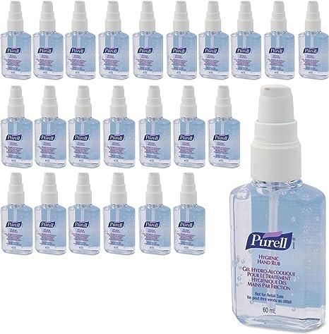 Juego de 24 botellas higiénicas de gel para desinfectar las manos de la marca Purell,