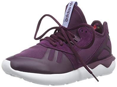 wholesale dealer 5fc92 16b29 adidas Originals Tubular Runner, Chaussures de Course Femme, Rouge-Rot  Merlot Periwinkle F15