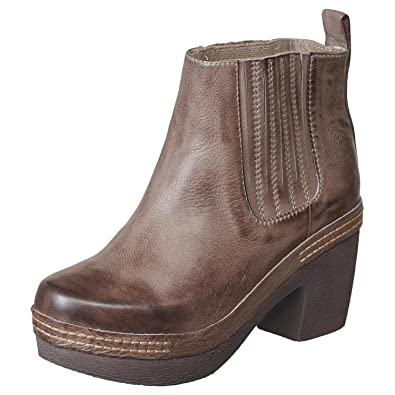 4c9a0435e010 Antelope Women s 995 Grey Leather Stitched Clog Bottom Bootie 36
