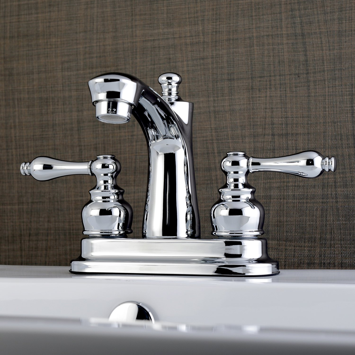 Chrome Kingston Brass FB7621AL Victorian 4-inch Centerset Lavatory Faucet