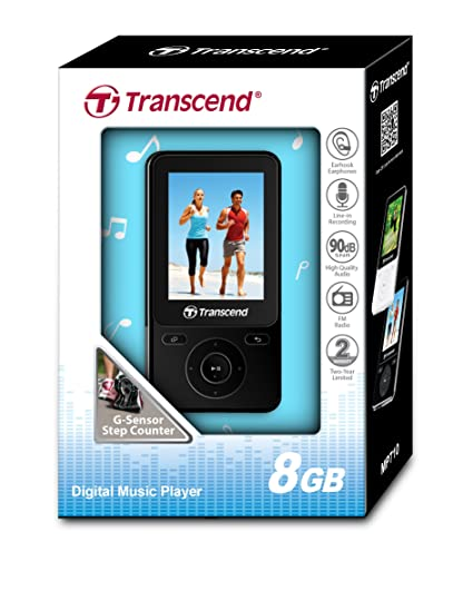 Amazon.com: 8GB Transcend MP710 Digital Music Player W/ FM Radio ...