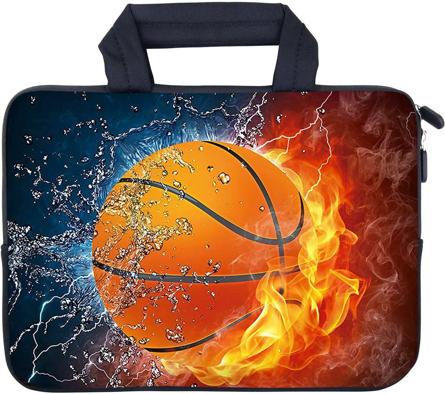 """AMARY 11.6"""" 12"""" 12.1"""" 12.5 inch Laptop case Neoprene Notebook Carrying Pouch Chromebook Sleeve Ultrabook Case Tablet Cover Fit Apple MacBook Air HP DELL Lenovo Asus Samsung (Hot Basketball)"""
