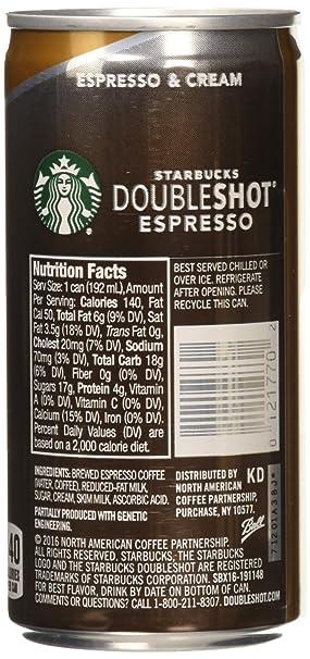 Starbucks Doubleshot Espresso Cream 6 5 Ounce 12 Pack