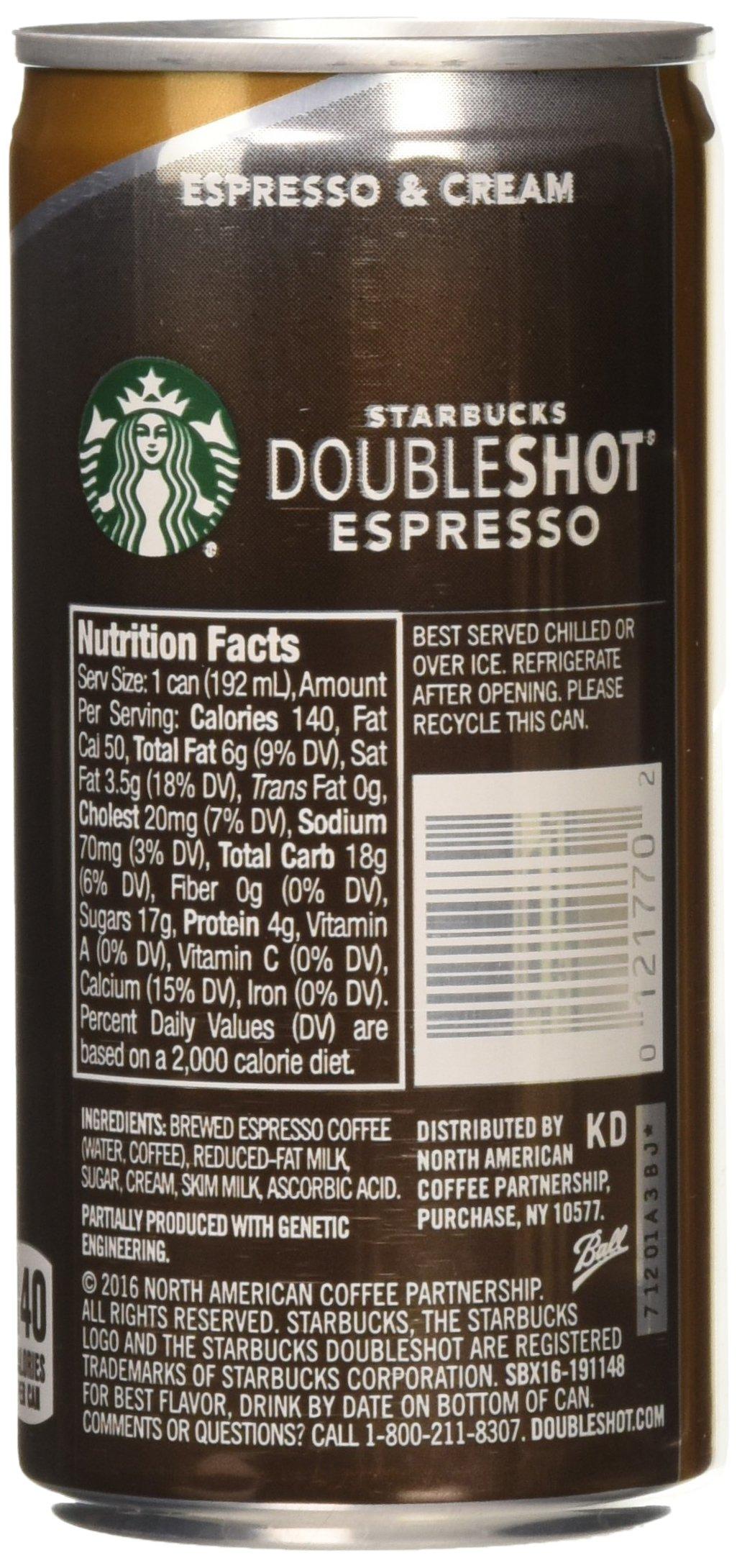 Starbucks Doubleshot, Espresso + Cream, 6.5 Ounce, 12 Pack by Starbucks (Image #3)