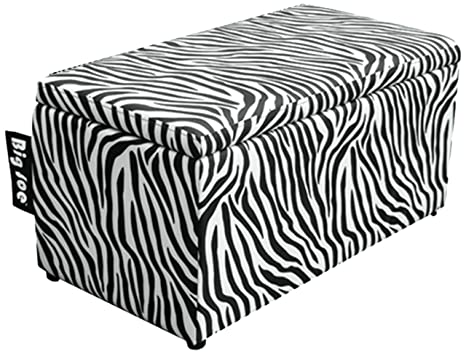 Surprising Amazon Com Big Joe 2 In 1 Bench Storage Ottoman Zebra Creativecarmelina Interior Chair Design Creativecarmelinacom