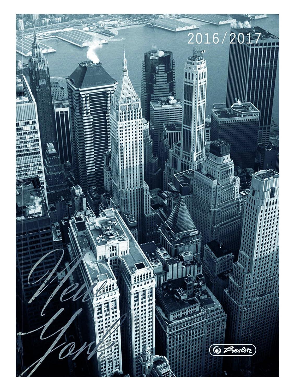 Herlitz, 50003464,diario scolastico stagionale, formato A6, stampa New York (lingua italiana non garantita) Pelikan
