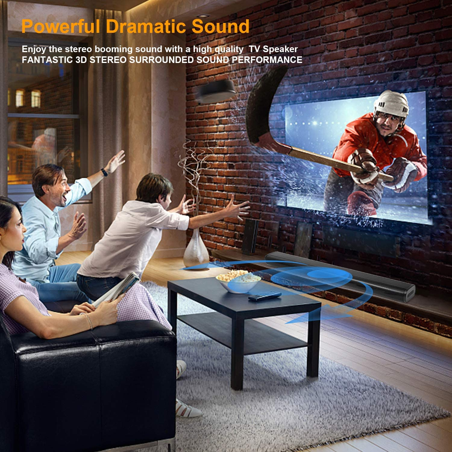 40W Bluetooth 5.0 TV Sound Bar with Built-in Dual Subwoofer SR250 AKIXNO Soundbar 2.0 HDMI//Optical//AUX//USB//TF Card//DC in//LINE in 32 INCH Adjustable Equalizer Mode Home Theater Speakers for TV PC