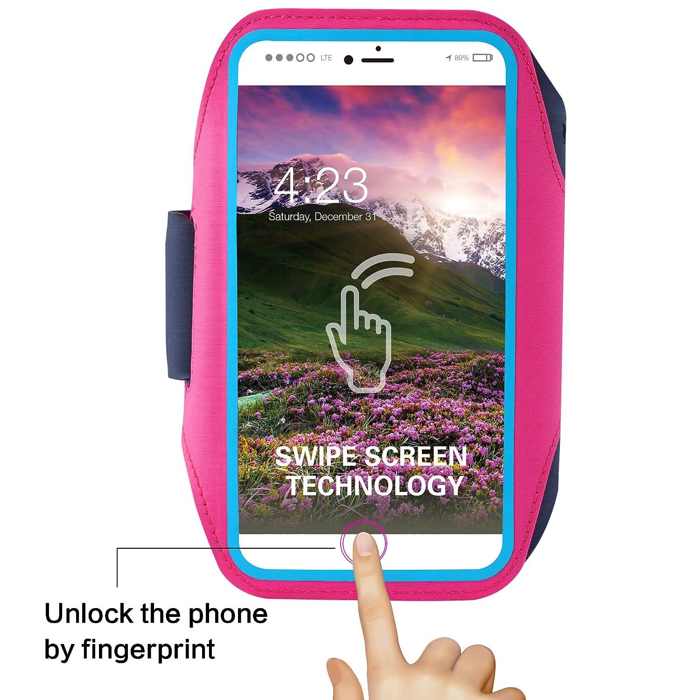 esquiar Brazalete para tel/éfono m/óvil resistente al sudor compatible con lector de huellas para utilizar cuando se hace deporte entrenamientos ciclismo como correr
