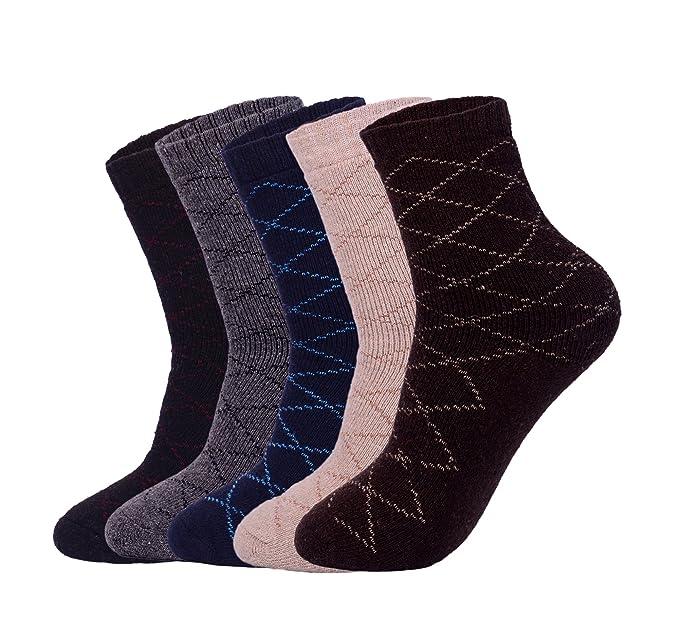 Unisex 5 pares pack de alto Crew ¡§C Calcetines de lana,senderismo,