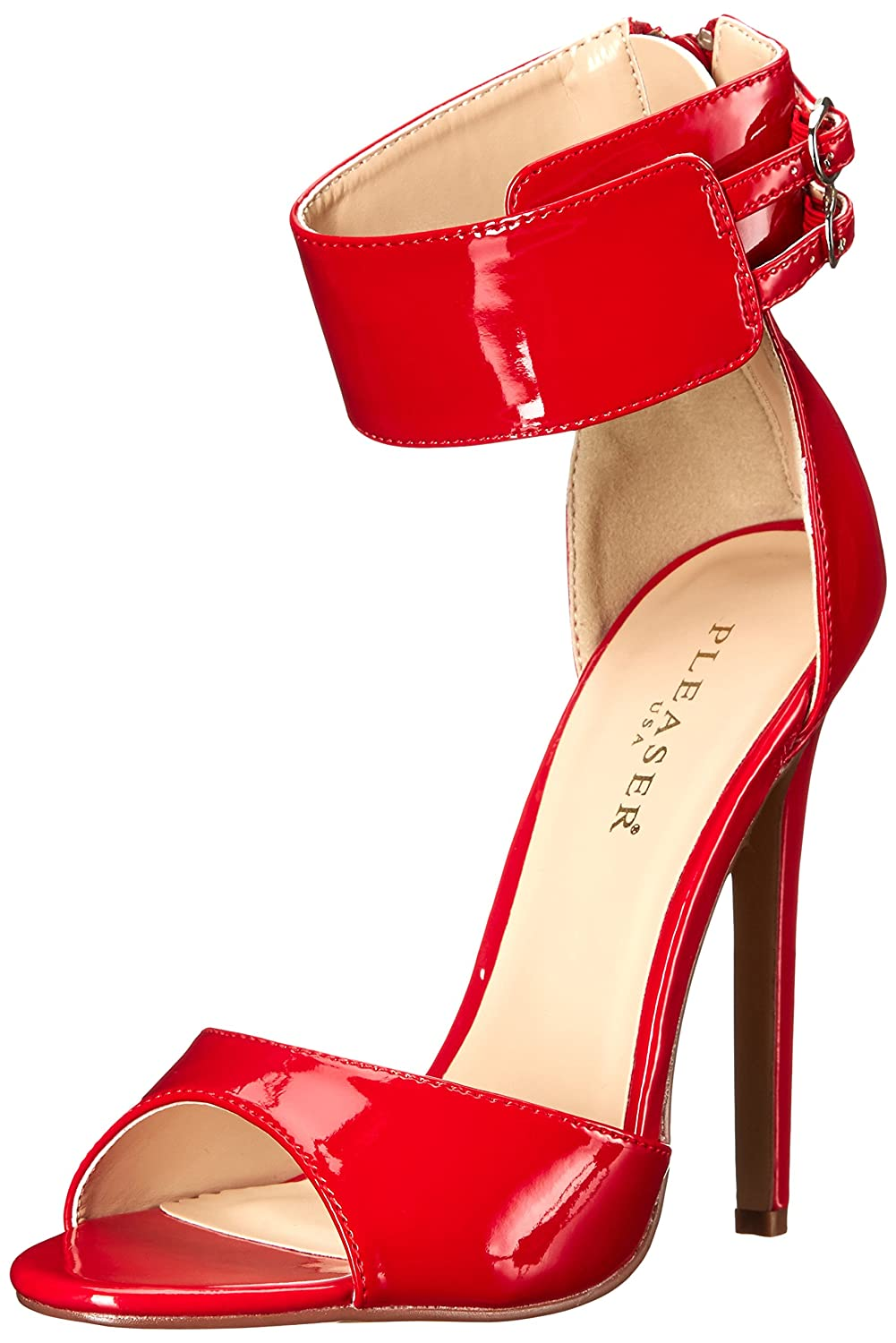Pleaser Women's SEXY19/R Dress Sandal B00MH2KHBQ 12 B(M) US|Red Patent