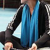 Asciugamano in Microfibra, HiHiLL Asciugamano Sportivo, per nuoto, Viaggi, Camping, Spiaggia, Bagno, Palestra, Yoga, Pilates (Blu, 100 x 50cm )