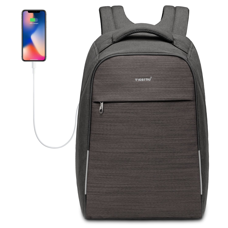 Kuprine Anti Theft Business Laptop Backpack with USB Charging Port & Scan Smart Travel Bag, Water Resistant Schookproof Computer School Bag for College Student Men Women Fits Under 17 Inch Laptop
