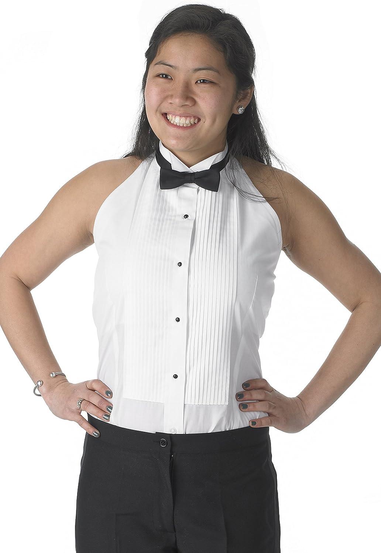 Henry Siegel - Camisa de Esmoquin para Mujer - Blanco - X-Small: Amazon.es: Ropa y accesorios