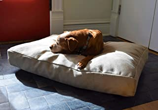 product image for Bean Products Premium Hemp Dog Bed | Made in USA from 100% Organic Sustainable Materials | CertiPUR Foam Fill | Machine Washable Cover | Fits Pugs to Mastiffs