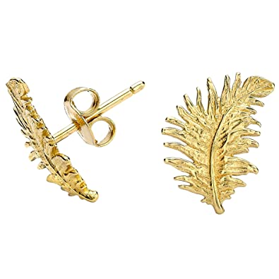 Dower & Hall Feather Stud Earrings h49WLq