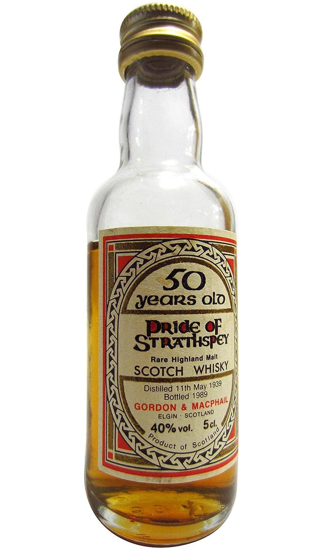 50 Year Old Whiskey >> Macallan Pride Of Strathspey Rare Highland Malt Miniature