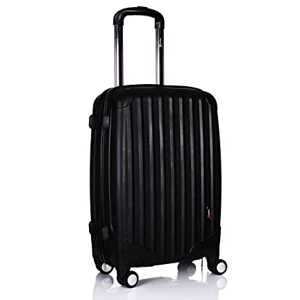 865b9544050d Luggage X Black Hard Shell Cabin Approved Case Super Lightweight ...