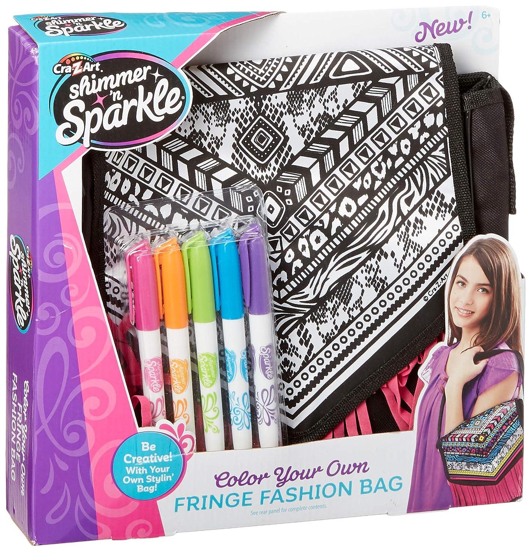 Cra-Z-Art Shimmer and Sparkle  Color Craze Fringe Messenger  Bag