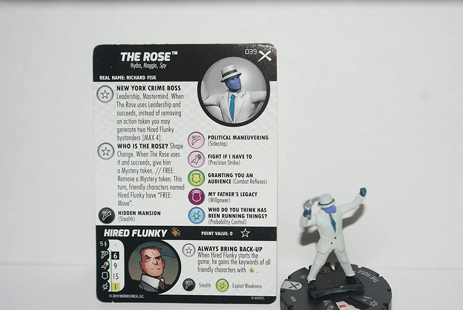 Heroclix Earth X The Rose #039 レア カード付き