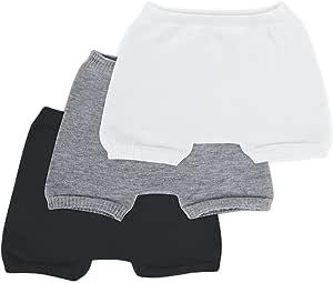 SmartKnitKIDS Boxer Brief Style Seamless sensitivity Undies 3 Pack (Black White Grey Medium)
