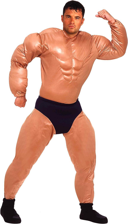 Muscle Chest Bodybuilder Padded Shirt Men Adult Costume