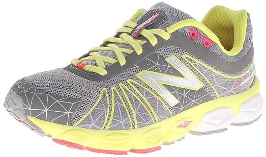 New Balance Women's W890 Cushion Running Shoe,Yellow/Silver,9.5 ...