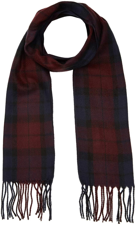 New Look Check, Bufanda para Hombre, Rojo (Dark Burgundy única (Talla del Fabricante: 99) 5892549