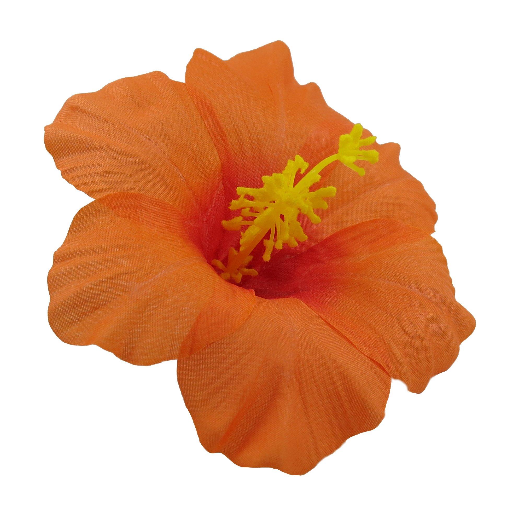 Amazon hawaiian hibiscus flower hair clip red beauty bonitagirl hawaiian hibiscus flower hair clip orange izmirmasajfo