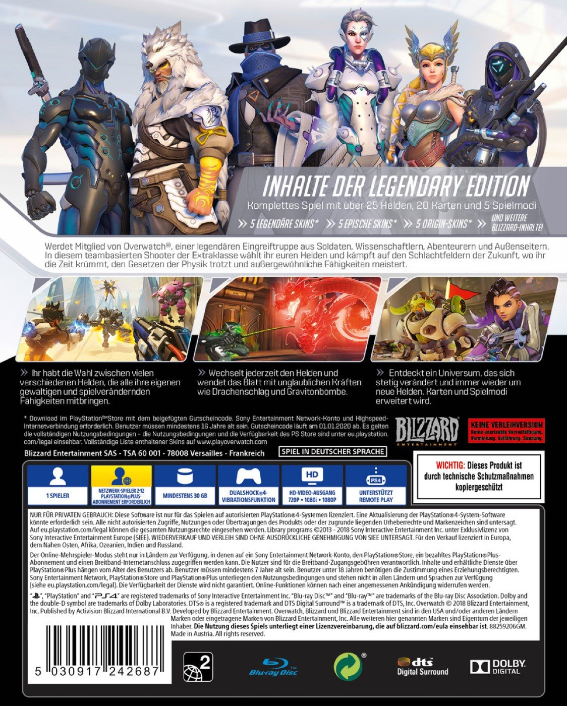 Amazon Com Overwatch Legendary Edition Playstation Ps4 Video Games
