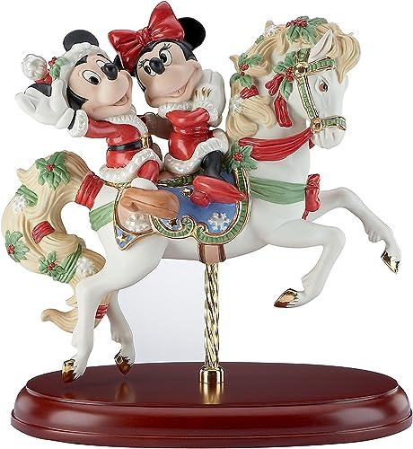 Lenox Mickey s Christmas Carousel Horse Figurine