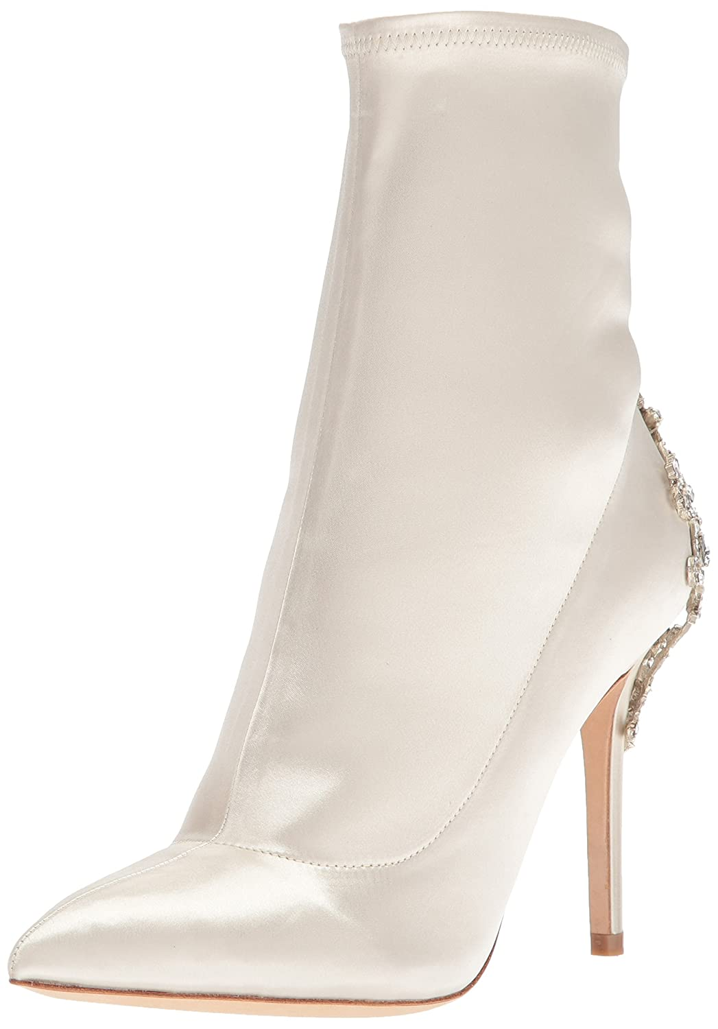 Badgley Mischka Women's Meg Ankle Boot B07483KN8Z 7 B(M) US|Ivory