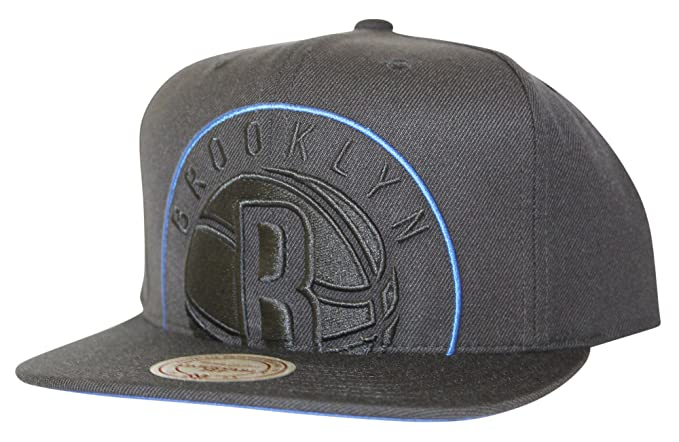 size 40 6944d 87303 Mitchell   Ness Men s NBA Cropped XL Logo Snapback Cap, Brooklyn Nets