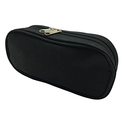 Solid Smooth Black Essential Oil Travel Case and Bag