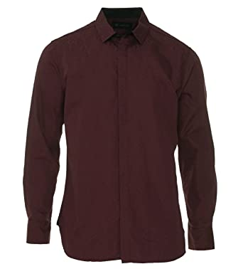 INC International Concepts Mens Burgundy Paisley Button Down Shirt ...