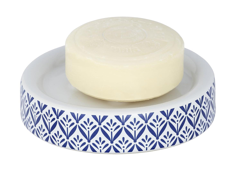Wenko 23206100Porta Sapone Lorca Blu, Ceramica, Ø 11x 2,5cm