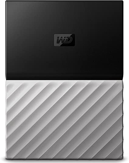 WD HDD ポータブル ハードディスク 4TB USB3.0 H/W暗号化 パスワード保護 3年保証 My Passport Ultra ブラックグレー WDBFKT0040BGY-WESN