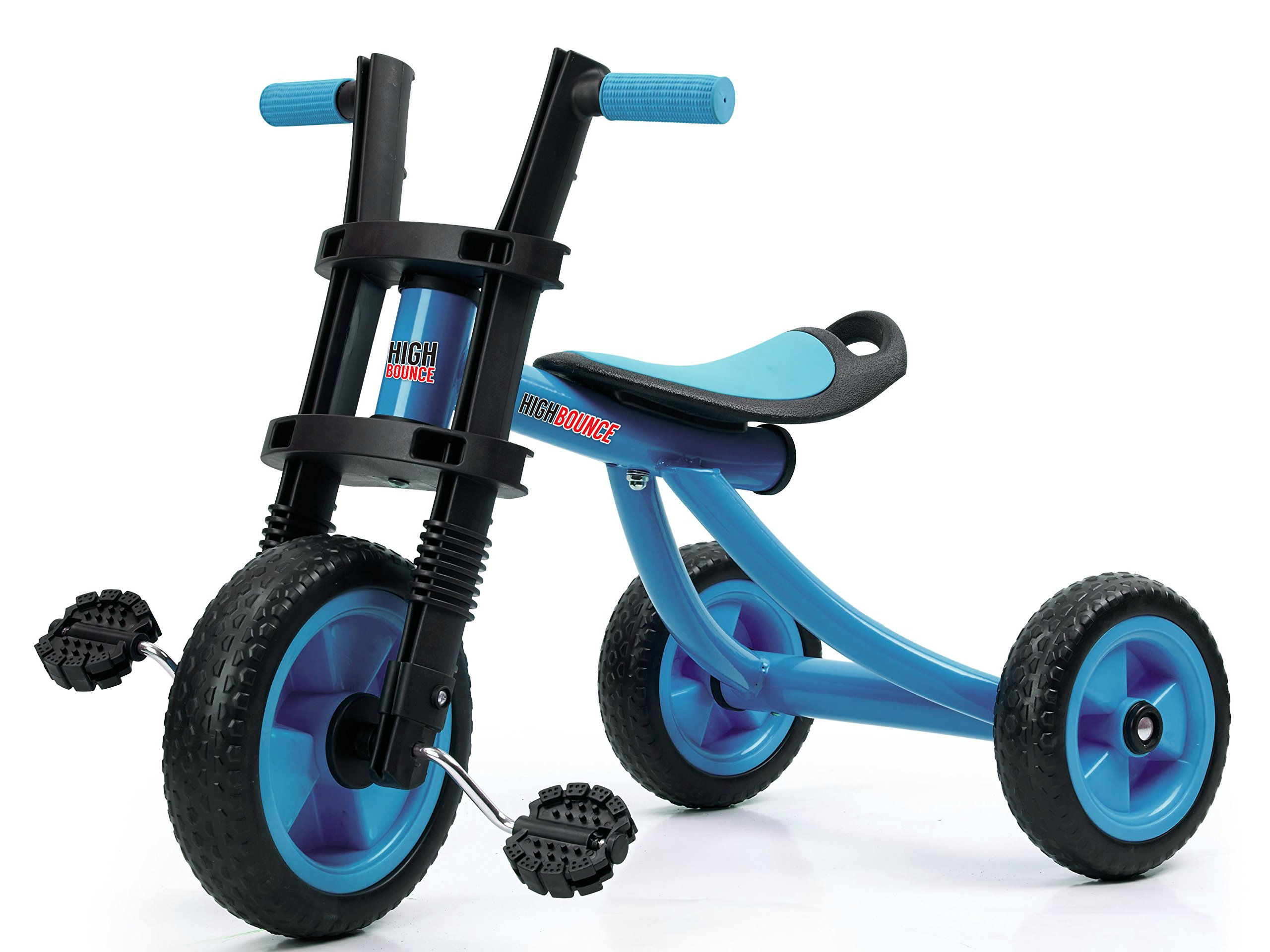 High Bounce Kids Tricycle - Extra Tall 3 Wheel Kids Trike, for Toddlers and Kids Ages 3-6 Adjustable Seat Tricycles, Soft Rubber Handle