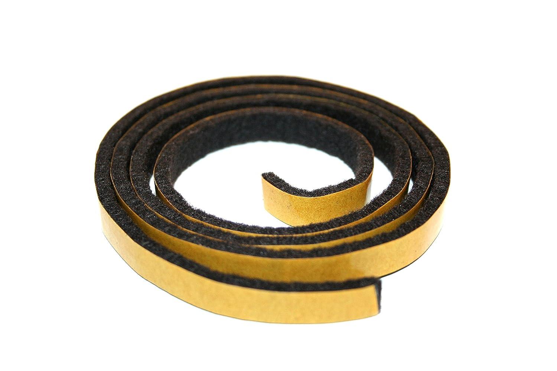 GleitGut Band di feltro adesivo/feltro nastro al metro–10m sul Rotolo–Larghezza: 10mm spessore: 3mm Nero GleitGut GmbH