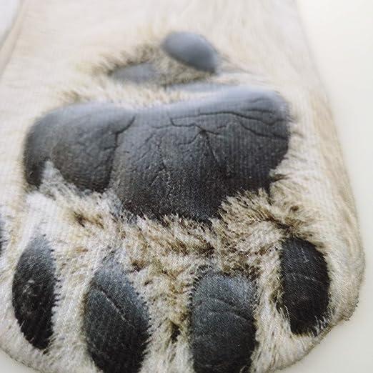 Amazon.com: North Wolf - Polar Bear Fun Crew Socks for Women or Mens Animal Paw Print Tube Sock visible on Ladies Dress and Men Boot: Clothing