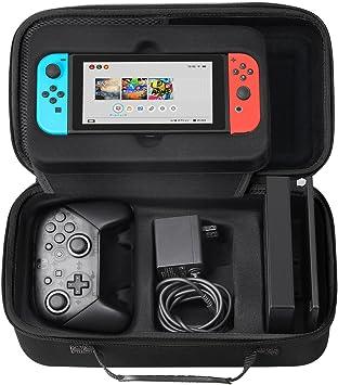 Funda para Nintendo Switch,SHareconn Portátil duro de Viaje Bolsa de Almacenamiento con 18 Cartuchos de Juego Para Nintendo Switch Consola,Controlador Pro,Switch Dock (Negro): Amazon.es: Electrónica