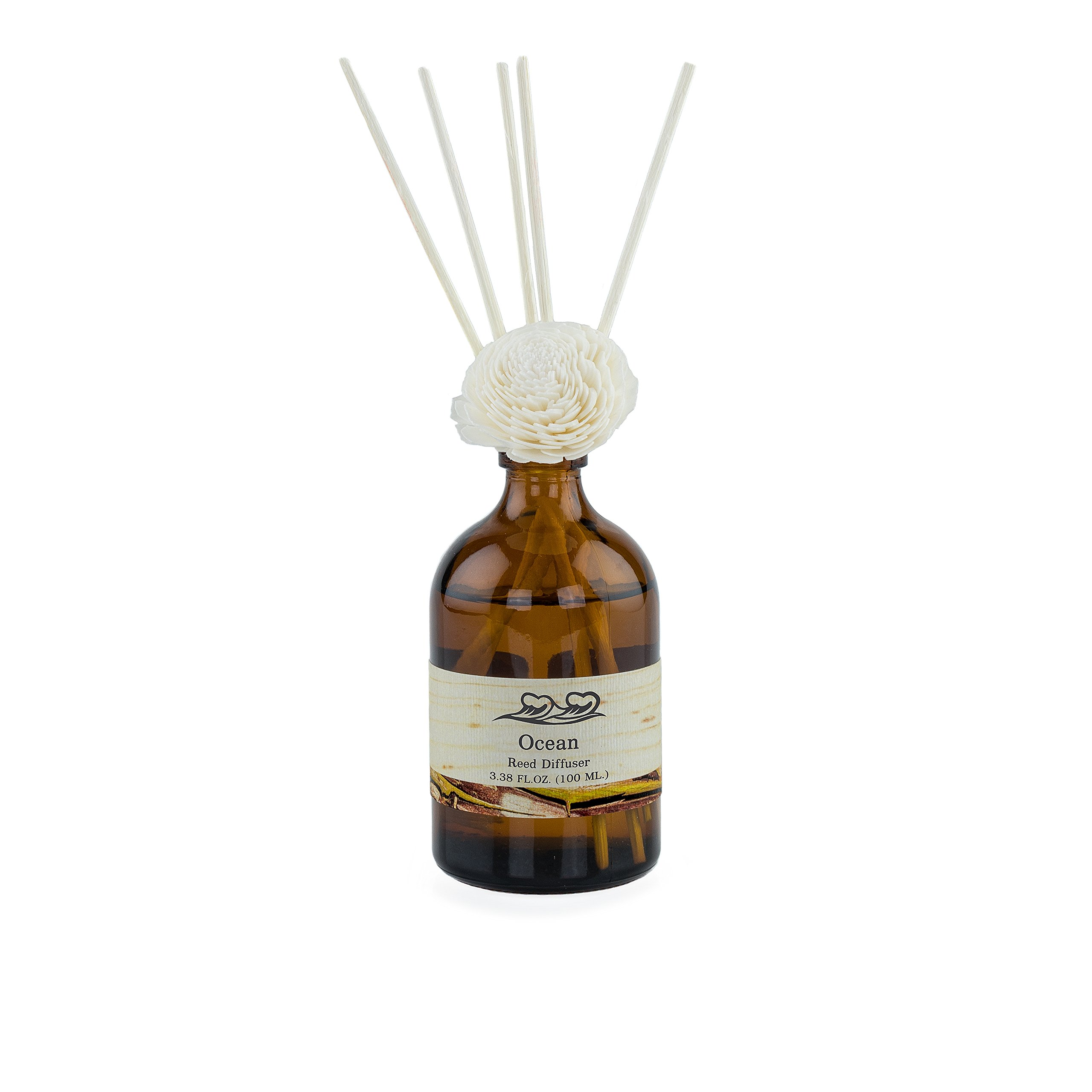 Life & Form Ocean Reed Diffuser Grand (3.38 fl.oz.) | Home Fragrance | by Life & Form (Image #2)