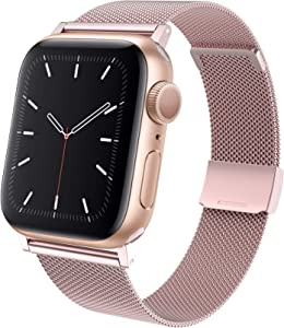 TACA-H Compatible with Apple Watch Bands 40mm 38mm,Stainless Steel Replacement iWatch Bands for Series 6/SE/5/4/3/2/1